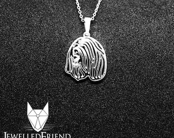 Bearded Collie jewelry pendant -Sterling Silver-Personalized Pet Necklace-Dog lover gift-Custom Dog Necklace-Pet Memorial Gift-Dog Mom Gift