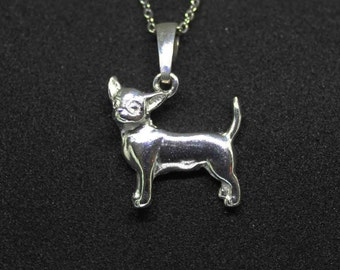 Chihuahua jewelry pendant-Sterling Silver-Personalized Pet Necklace-Dog lover gift-Custom Dog Necklace-Pet Memorial Gift-Dog Mom jewelry