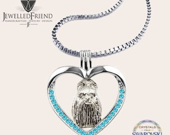 Lhasa Apso jewelry pendant-Sterling Silver-Personalized Pet Necklace-Dog lover gift-Custom Dog Necklace-Pet Memorial Gift-Dog Mom jewellery