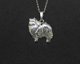 Spitz jewelry pendant-Sterling Silver-Personalized Pet Necklace-Dog lover gift-Pet Memorial