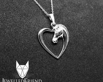 Horse jewelry pendant with swarovski crystal sterling silver-Custom Horse Necklace - Horse Memorial Gift - Horse Mom Gift-Horse art
