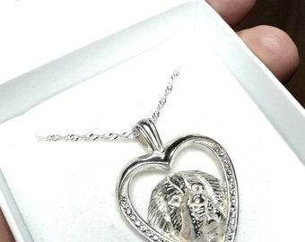 Bernese Mountain dog jewelry necklace pendant with swarovski crystal sterling silver