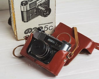 Fed 5С camera Rangefinder film camera Lens Industar 61l/D, f2.8/55mm lens M39 Gift for him Soviet vintage camera