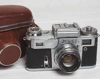Kiev 4 camera Rangefinder film camera Lens Industar 50 lens M39 Gift for him Soviet vintage camera KMZ retro photo prop stuff camera