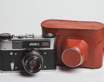 Fed 5 camera Rangefinder film camera Lens Industar 61l/D, f2.8/55mm lens M39 Gift for him Soviet vintage camera