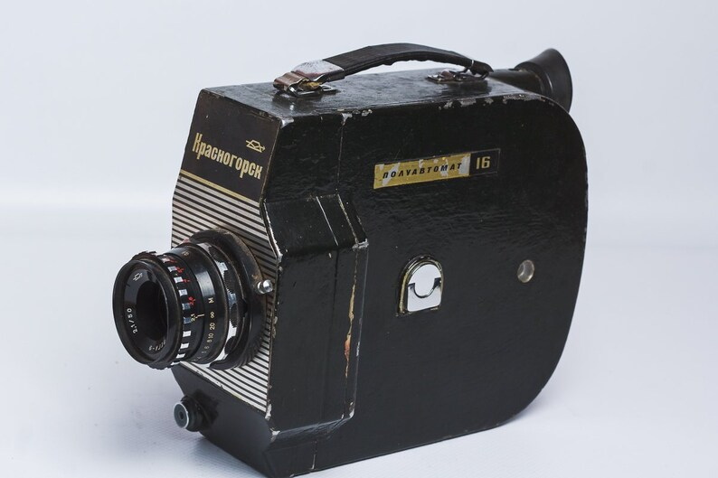 da2edb3e8 16mm camera Vintage Movie camera Krasnogorsk-3 Christmas gift