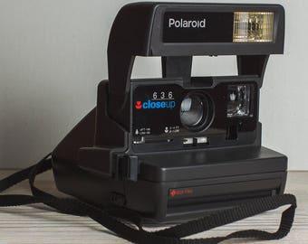 Polaroid Close Up 636 Polaroid Camera Vintage Camera Retro Camera Christmas xmas gift for photographer Gift for him film 600
