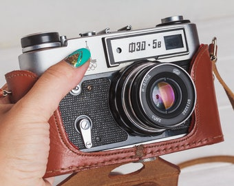 Fed 5 camera Rangefinder film camera Lens Industar 61l/D, f2.8/55mm lens M39 Gift for him 35mm Soviet vintage camera