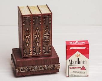 Cigarette dispenser Storage Cigarette holder  box Vintage Birthday gift for smoker him man boyfriend Cigarette case Party smoking decor
