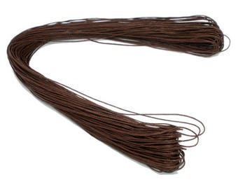 80m Brown Cotton Cord, Waxed Cotton Cord, Jewellery Making - FD034