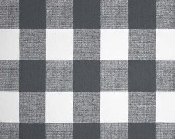 Gunmetal Grey White Check Tie up Valance Window Treatment Curtain Shade Bedroom Kitchen Office Laundry