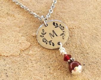 little girl monogram necklace