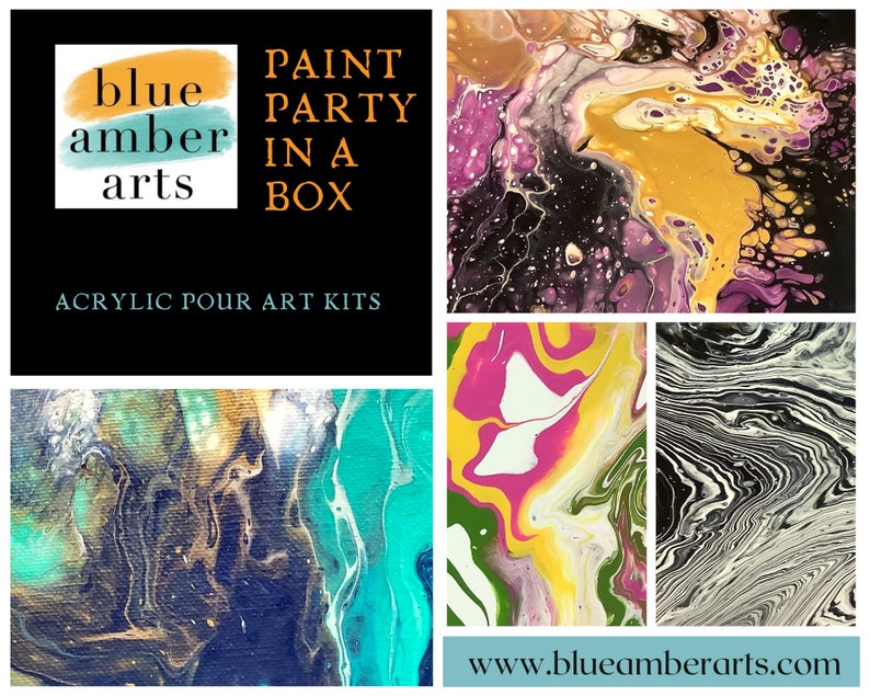 Paint Party in a Box: Acrylic Pouring Kit Gifts for image 0