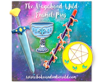 Tarot Suit Enamel Pin Set