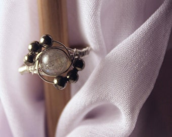 Flattering Silver Wrap Wire Ring