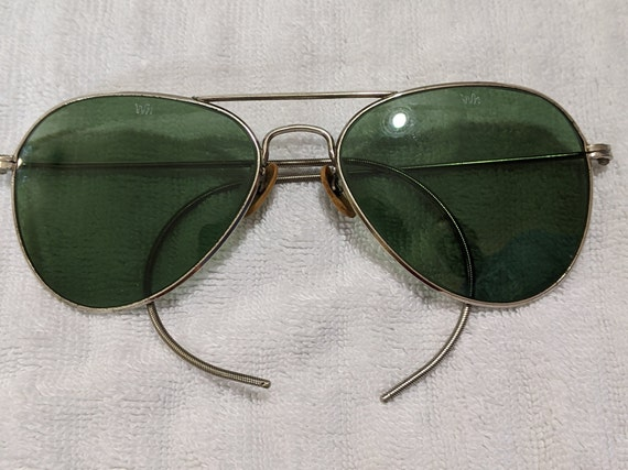 Green Tinted late 40s/Early 50s Aviator style sung
