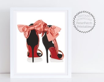 ee353838f Christian Louboutin High Heels Instant Download Christian Louboutin Fashion  Watercolor Illustration Girly Wall Art Fashion Print Louboutin