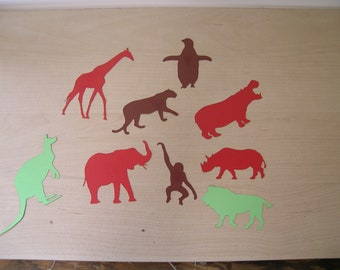 Paper zoo animals, laser cut