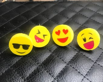 7bcc749334 Emoji pins winky face pin heart eyes pin cool pin sunglasses pin yuck pin tongue  out pin pins for 2 dollars cheap pins jacket pin hat pin
