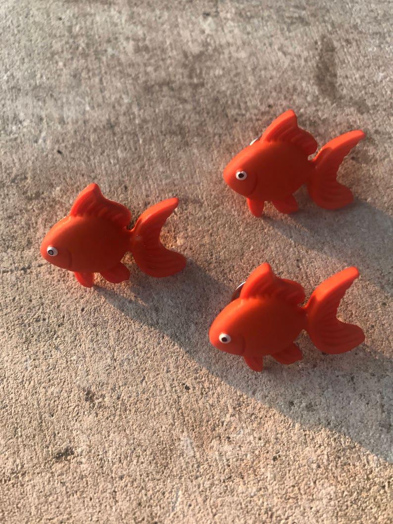 095ebdb4a4 Goldfish pin/pet gold fish/hat pin/clothes pin/jacket pin/hat | Etsy