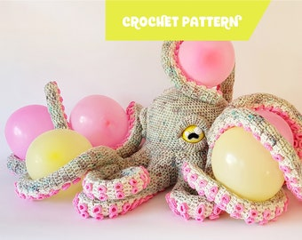 Apollo the Octopus | giant crochet pattern - EASY TO FOLLOW