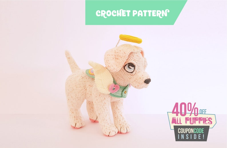 Halo the Labrador  puppy crochet pattern  EASY TO FOLLOW image 0