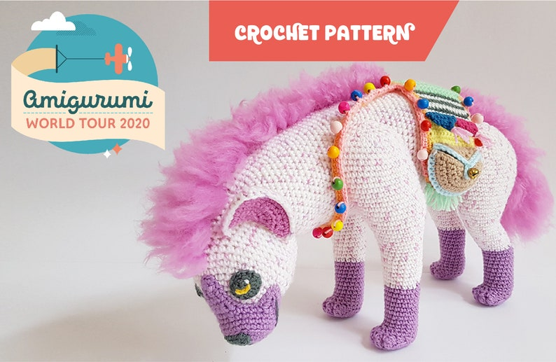 Lyra the Hyena  crochet pattern I WITH FUR  easy to follow image 0