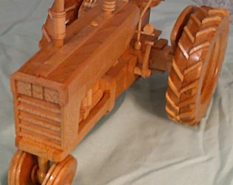 Hand crafted Wood International Farmall tractor -  PRICE REDUCED !!!