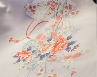 Pristine kimono silk rinzu floral patterns