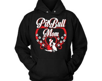 41c60a56 Pitbull Sweatshirt - Pitbull Mom | Pitbull Hoody | Pit bull Hoodie | Pitbull  Hoodie | Hooded Sweatshirt | Hoodies For Women |Pullover Comfy