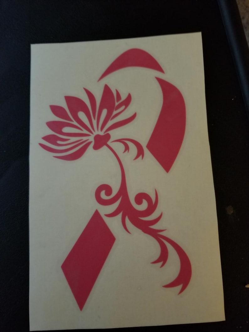 Pink Lotus Flower Awareness Ribbon Breast Cancer Etsy