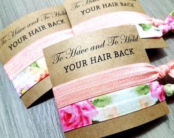 Hair Tie Bridal Shower Favor | Bridesmaid Hair Tie Favor | To Have and To Hold Favors | Hair Tie Bridesmaid Gift