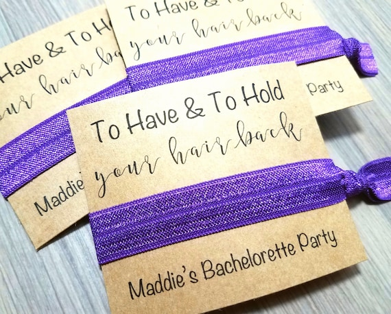 To Have and To Hold Your Hair Back Hair Tie Favors  81a9b3313c5