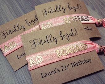 Finally Legal Birthday Favors | 21st Birthday Party Favors | Birthday Hair Tie Favors | 21st Birthday Gift Ideas