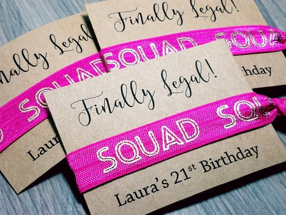 Finally Legal Birthday Favors 21st Birthday Party Favors Etsy