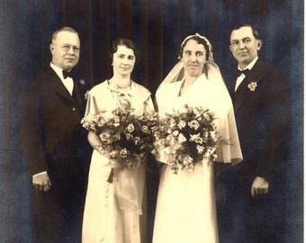 Vintage Antique Wedding Photograph