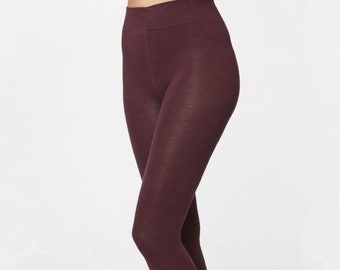 Bamboo Tights - Ethical - Purple - Wine