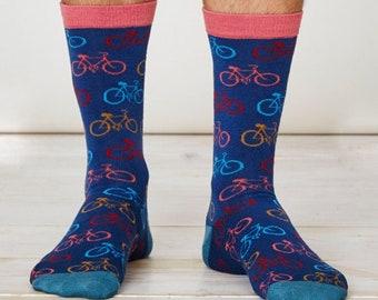 Cycle Bike Bamboo Socks - Blue