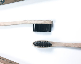 Bamboo Eco Toothbrush - Charcoal Infused Bamboo Soft Ethical Bristles