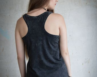 Black Vest - Acid Black Organic Ladies Uncaptive