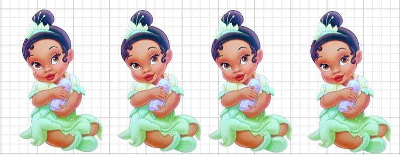 Baby Princess Tiana Treat Toppers