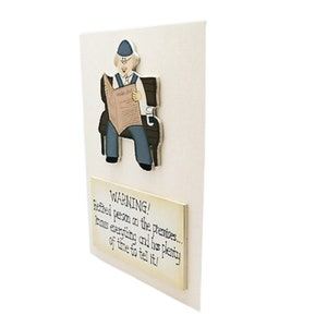 Wall Plaque Warning Retired Person On The Premises Humorous Wooden Sign F1435E