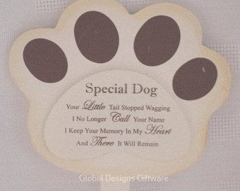 Special Dog Grave Marker Stick Stake Memorial Tribute Your Little Tail Stopped Wagging F1625