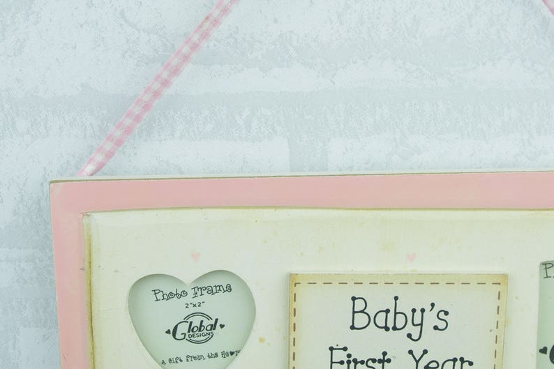 Baby Photo Frame Daughter Scan Picture Pink Thank Heaven For Little Girls F1053A