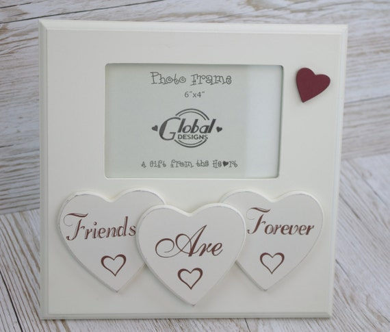 Friends Are forever Hearts Photo Frame Best Friends Picture | Etsy