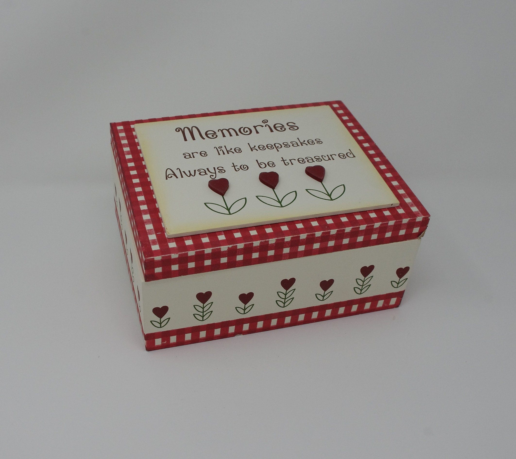 Keepsakes Memory Box Bits & Peices Mothers Day Mum Nan Red