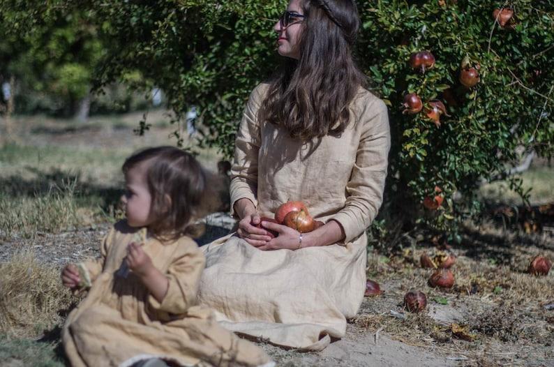 60b8c6bc14 Linen dress for woman autumn linen dress dress for woman