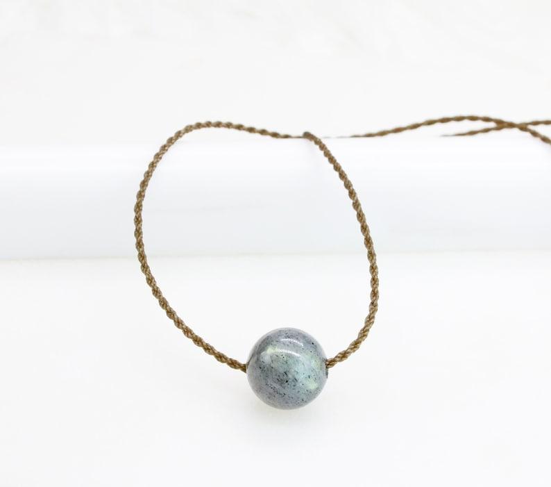 Labradorite Beaded Rope Necklace