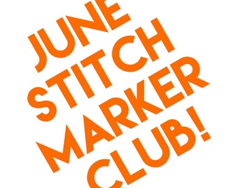 Yarnistry's June Stitch Marker Club - for knitting and crochet
