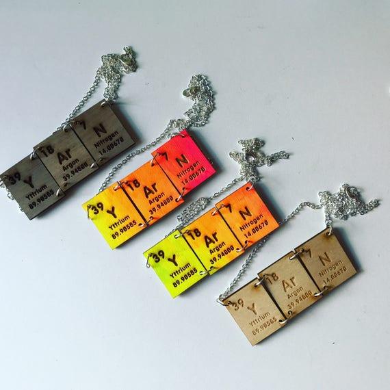Yarn periodic table element necklaces etsy image 0 urtaz Images